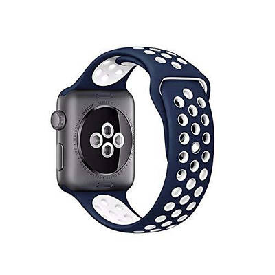 Nike Ремешок, STR, Nike Sport Band for Apple Watch 42 mm - Blue/White ST-3041
