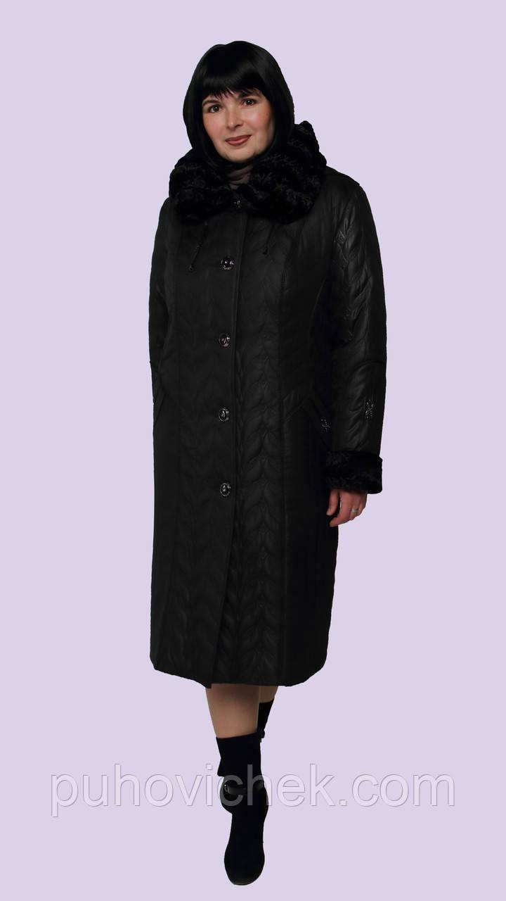Пальто женское зимние с капюшоном теплое