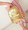 Рюкзак женский голографический в стиле Givenchy Золото, фото 4