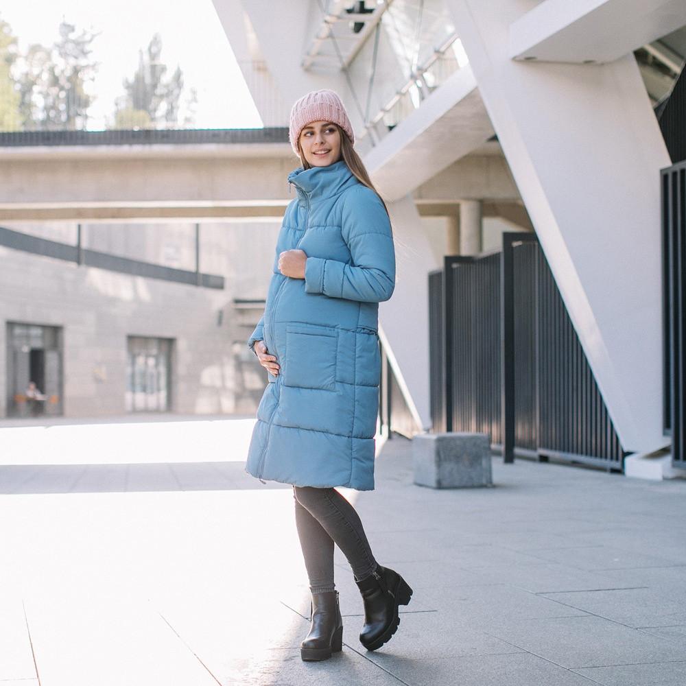 Слингокуртка Love&carry (Лав энд керри) Блу, голубая, зима 2019