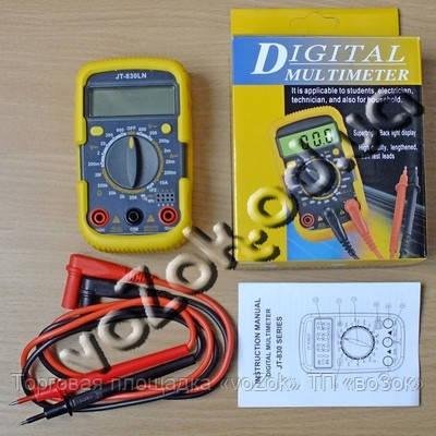 Мультиметр универсальный цифровой противоударный с подсветкой тестер Digital Multimeter UK-830LN