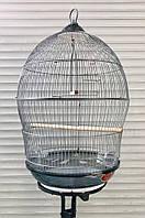 Клетка для птиц 370 gray ™️ Золотая Клетка (d49x76)