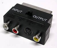 Переходник SCART- 4RCA с переключателем.