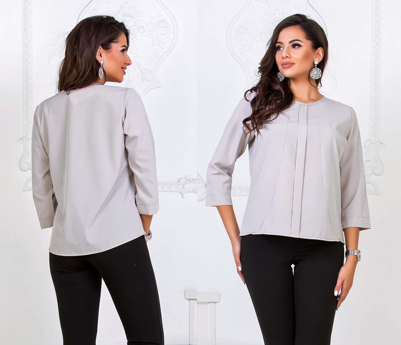 """Элегантная женская блузка до больших размеров 1580 """"Софт Планочка"""" в расцветках"""