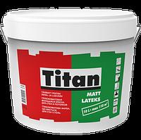 Латексная краска для стен и потолка Titan Mattlatex Eskaro 10л