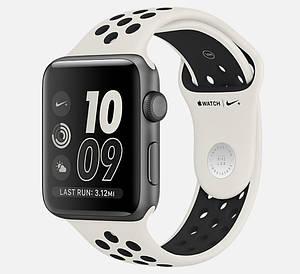 Ремешок STR Nike Sport Band for Apple Watch 42 mm Black/White