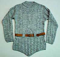 Вязаный свитер-туника для девочки  9-13 лет, фото 1
