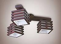 Люстра 3-х ламповая, деревянная, спальня, кухня 18633