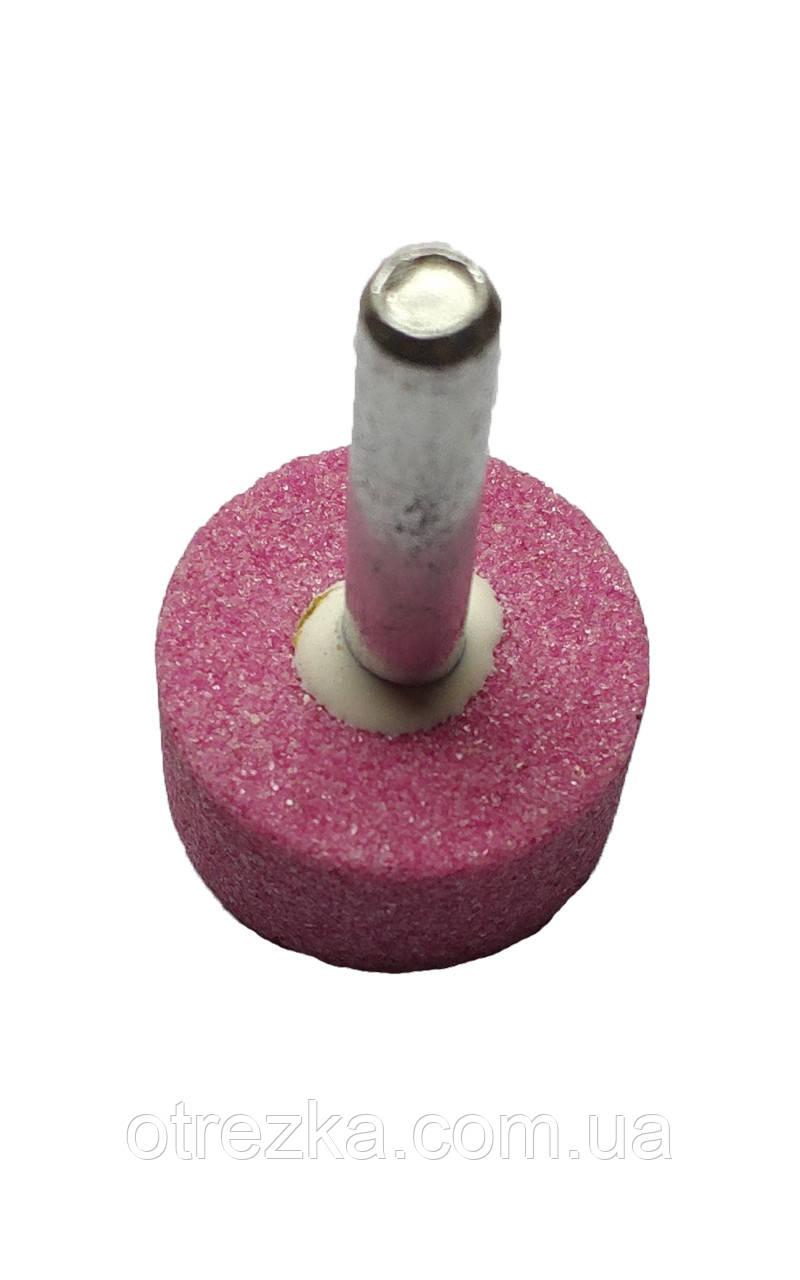 Шарошка шлифовальная цилиндрическая 25х13х6 мм. розовый корунд
