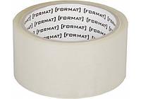 Лента клейкая упаковочная (скотч) Format, 45 мм х 66 яр. коричневая