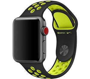 Ремешок STR Nike Sport Band for Apple Watch 42 mm - Black/Volt