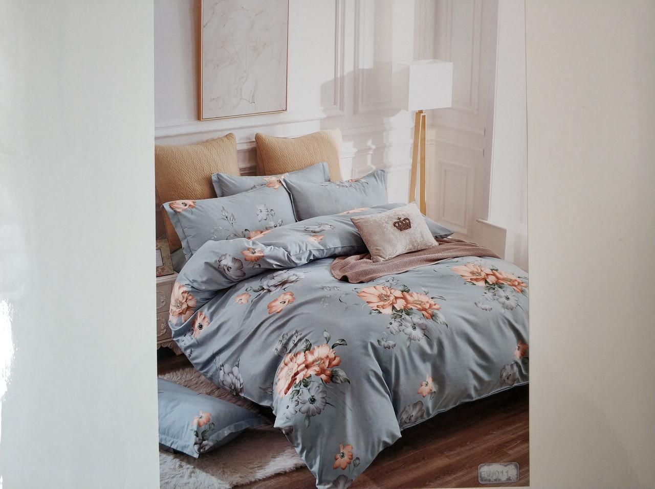 Постельное белье полисатин двуспальный евро ELWAY EW011