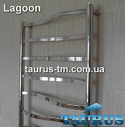 Дизайнерский полотенцесушитель Lagoon 11/500 от ТМ TAURUS. Перемычки 20х10 - волной. Водяной, электро и комби.