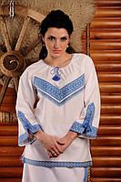 Вышиванка женская рукав 3/4.  Жіноча блуза Модель:ЖБ-13-132