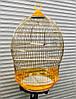 Клетка для попугаев и птиц 370 gold ™️ Золотая Клетка (d49x76)