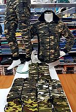 Мужской костюм милитари с капюшоном