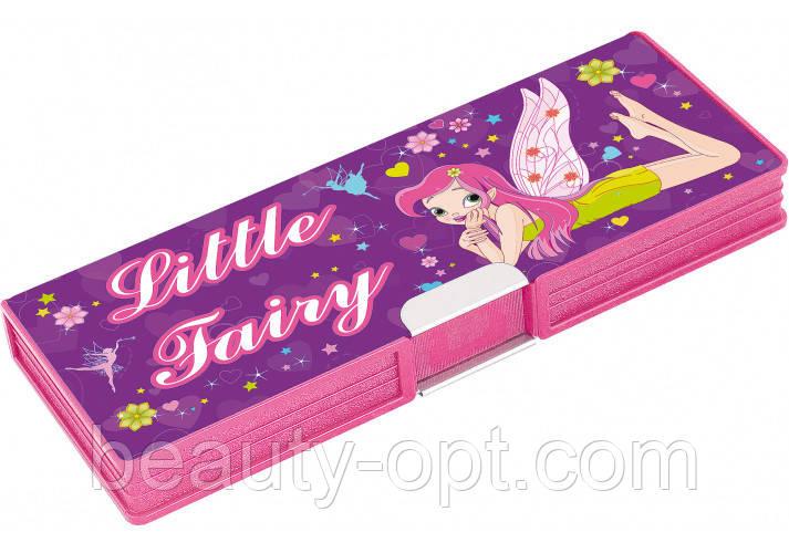 """Пенал пластиковый на магните, 2 отделения, """"Little Fairy"""", 7010"""