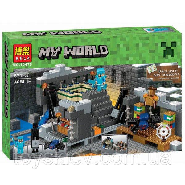 Конструктор Bela 10470 Майнкрафт Портал края (аналог Lego Minecraft 21124)