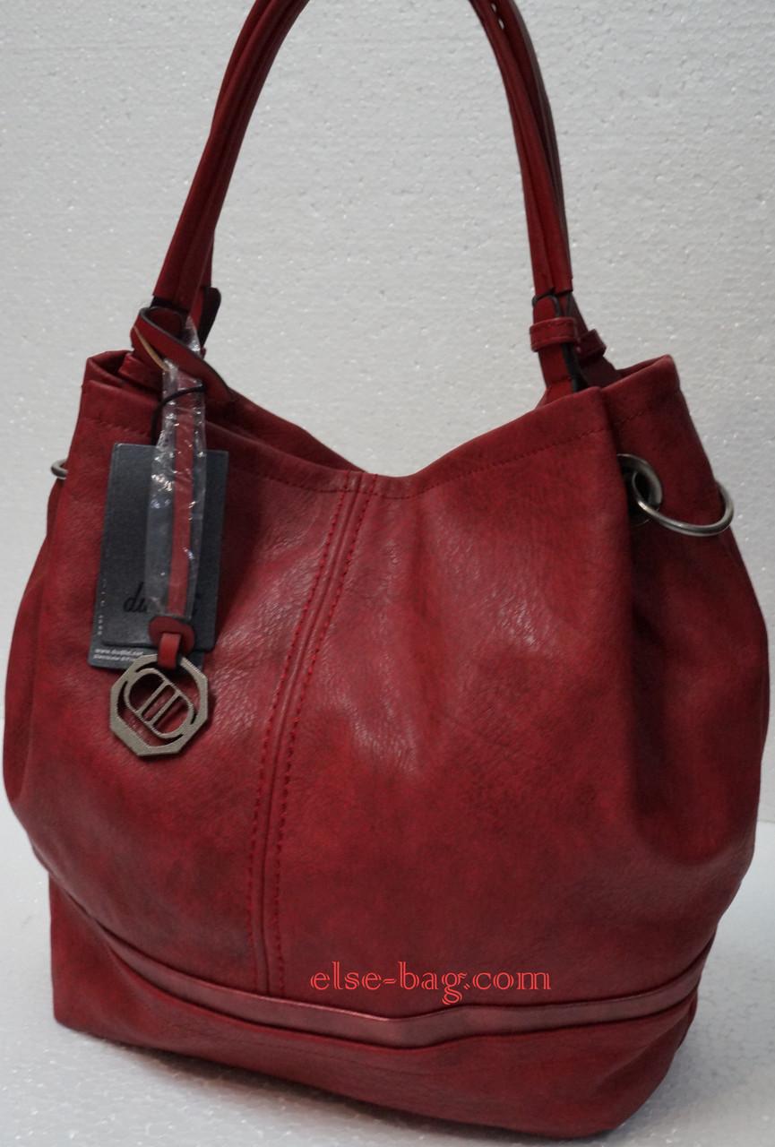 Красная мягкая сумка на две ручки