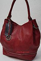 Красная мягкая сумка на две ручки, фото 1