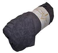 Плотная Sweet Dreams Premium махровая простынь на резинке 180*200 Турция Цвет темно серый
