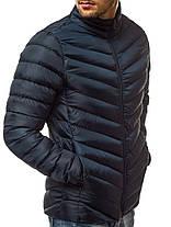 Мужская стеганая куртка J.Style синего цвета топ реплика, фото 2