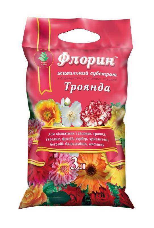 Субстрат Роза - Флорин, ТД Киссон - 3 литра