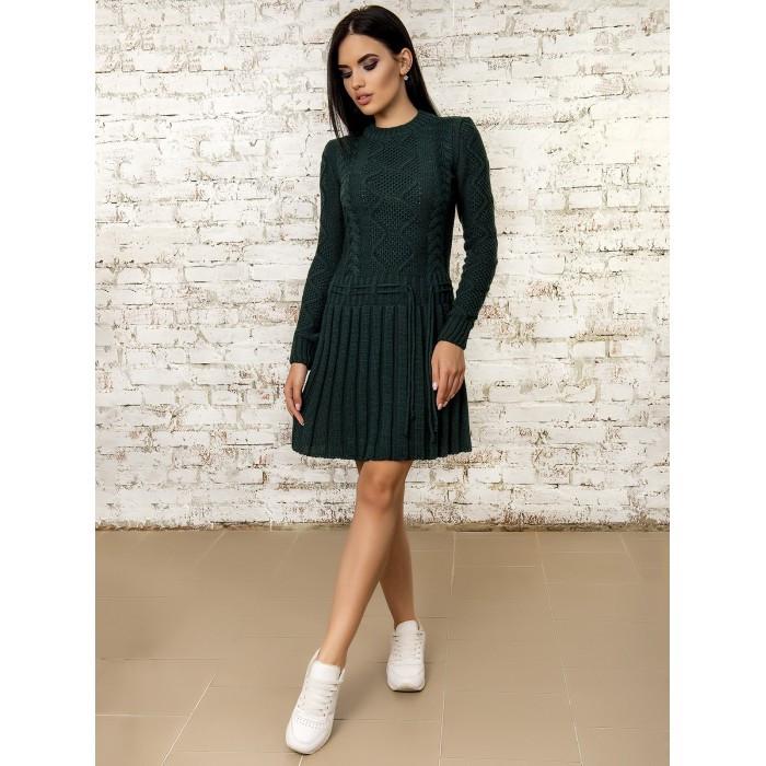 Платье вязаное шерстяное теплое очень милое 42-44