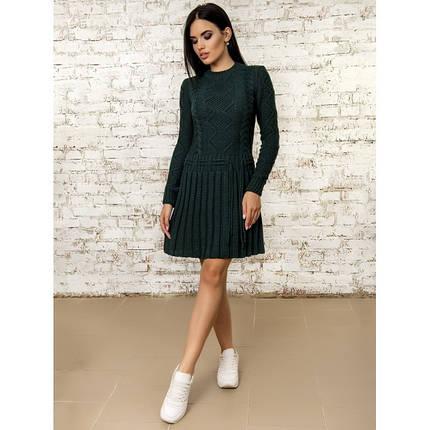Платье вязаное шерстяное теплое очень милое 42-44, фото 2
