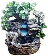 Фонтан садовый подвесной декоративный Пейзаж деревья штучные корзины подсветка МЕЛЬНИЦА 35=35=16