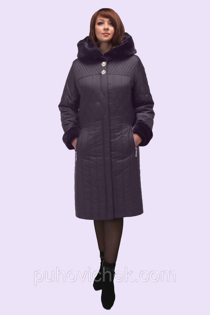 Зимнее женское пальто с мехом интернет магазин новинка