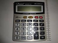 Большой настольный калькулятор Kenko KK-8151, пластиковые кнопки, 12 разрядов, автоматическое отключение, 1*АА