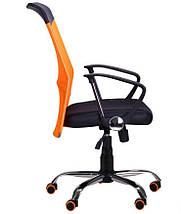 Кресло АЭРО HB Line Color сиденье Сетка чёрная,Неаполь N-20/спинка Сетка оранжевая, вст.Неаполь N-20, фото 2