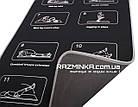 Неопреновый коврик для спорта 180х60см, толщина 6мм, черный, фото 2