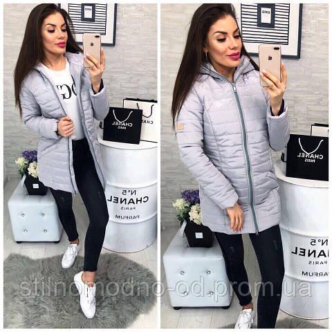 Женское пальто на силиконе