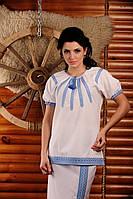Вышиванка женская с коротким рукавом.  Жіноча блуза Модель:ЖБ-19-125