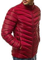 Мужская стеганая куртка J.Style бордовая топ реплика, фото 2