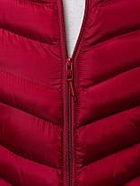 Мужская стеганая куртка J.Style бордовая топ реплика, фото 3