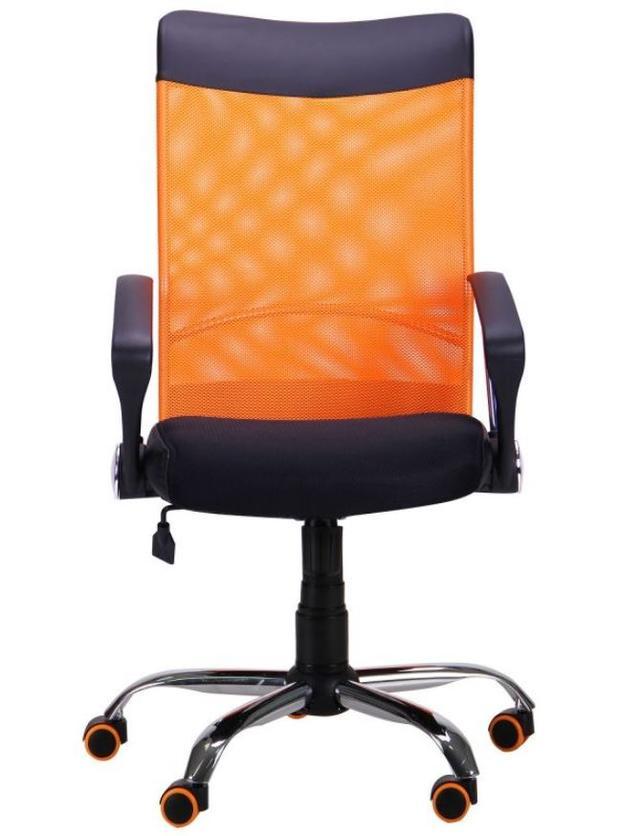 Кресло АЭРО HB Line Color сиденье Сетка чёрная,Неаполь N-20/спинка Сетка оранжевая, вст.Неаполь N-20 (фото 2)