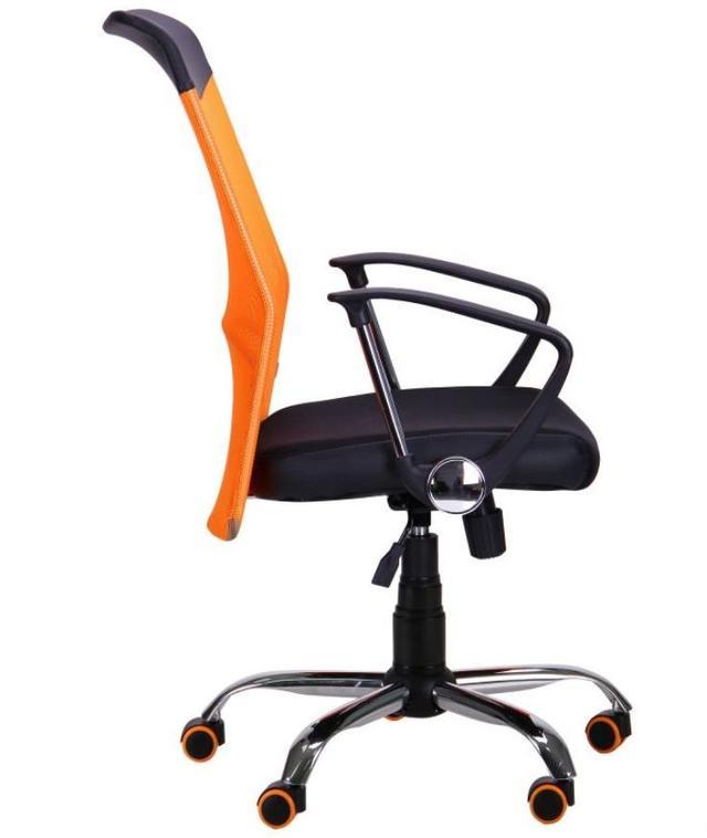 Кресло АЭРО HB Line Color сиденье Сетка чёрная,Неаполь N-20/спинка Сетка оранжевая, вст.Неаполь N-20 (фото 3)