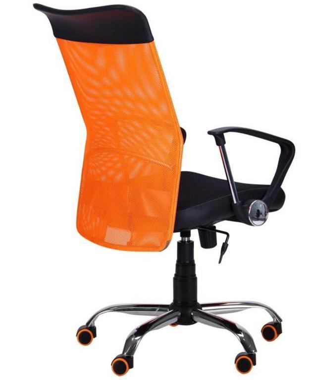 Кресло АЭРО HB Line Color сиденье Сетка чёрная,Неаполь N-20/спинка Сетка оранжевая, вст.Неаполь N-20 (фото 4)