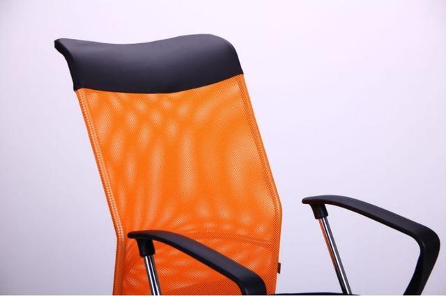 Кресло АЭРО HB Line Color сиденье Сетка чёрная,Неаполь N-20/спинка Сетка оранжевая, вст.Неаполь N-20 (фото 5)