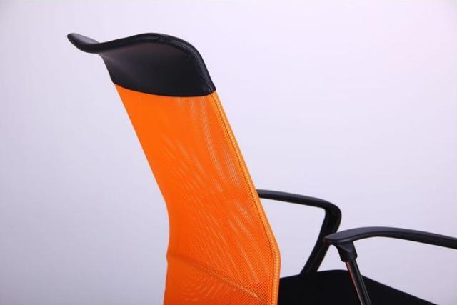 Кресло АЭРО HB Line Color сиденье Сетка чёрная,Неаполь N-20/спинка Сетка оранжевая, вст.Неаполь N-20 (фото 6)