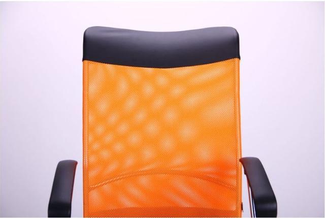 Кресло АЭРО HB Line Color сиденье Сетка чёрная,Неаполь N-20/спинка Сетка оранжевая, вст.Неаполь N-20 (фото 7)