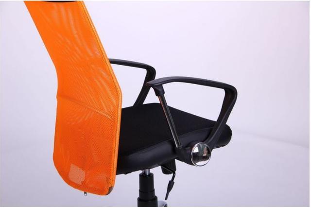 Кресло АЭРО HB Line Color сиденье Сетка чёрная,Неаполь N-20/спинка Сетка оранжевая, вст.Неаполь N-20 (фото 8)