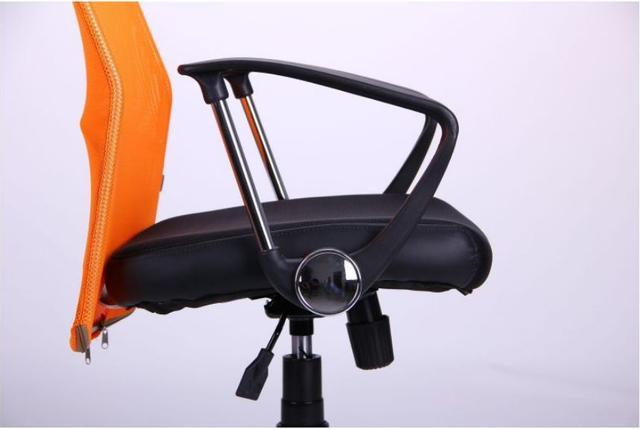 Кресло АЭРО HB Line Color сиденье Сетка чёрная,Неаполь N-20/спинка Сетка оранжевая, вст.Неаполь N-20 (фото 9)