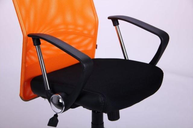 Кресло АЭРО HB Line Color сиденье Сетка чёрная,Неаполь N-20/спинка Сетка оранжевая, вст.Неаполь N-20 (фото 10)