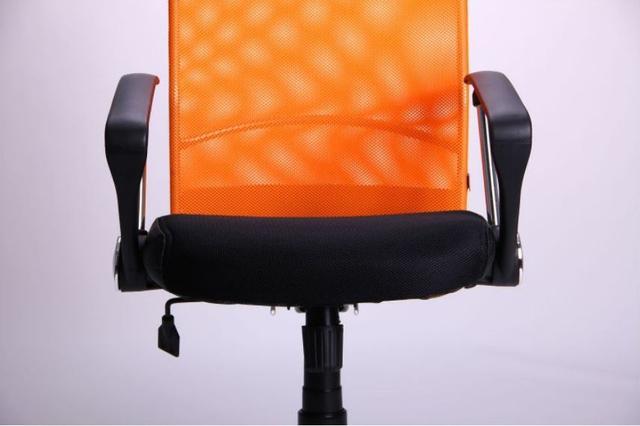 Кресло АЭРО HB Line Color сиденье Сетка чёрная,Неаполь N-20/спинка Сетка оранжевая, вст.Неаполь N-20 (фото 11)
