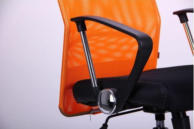 Кресло АЭРО HB Line Color сиденье Сетка чёрная,Неаполь N-20/спинка Сетка оранжевая, вст.Неаполь N-20 (фото 12)