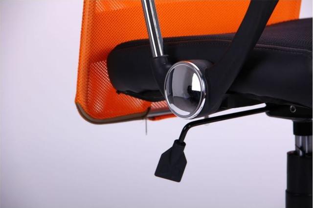 Кресло АЭРО HB Line Color сиденье Сетка чёрная,Неаполь N-20/спинка Сетка оранжевая, вст.Неаполь N-20 (фото 13)